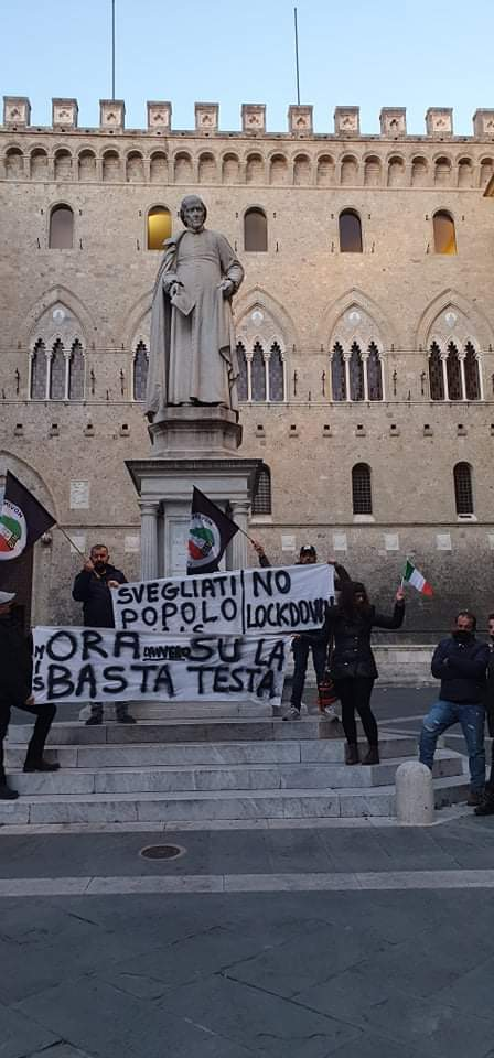 "Siena: Oggi 07/04 Resoconto manifestazione ""Adunata PatriotiItaliani"""