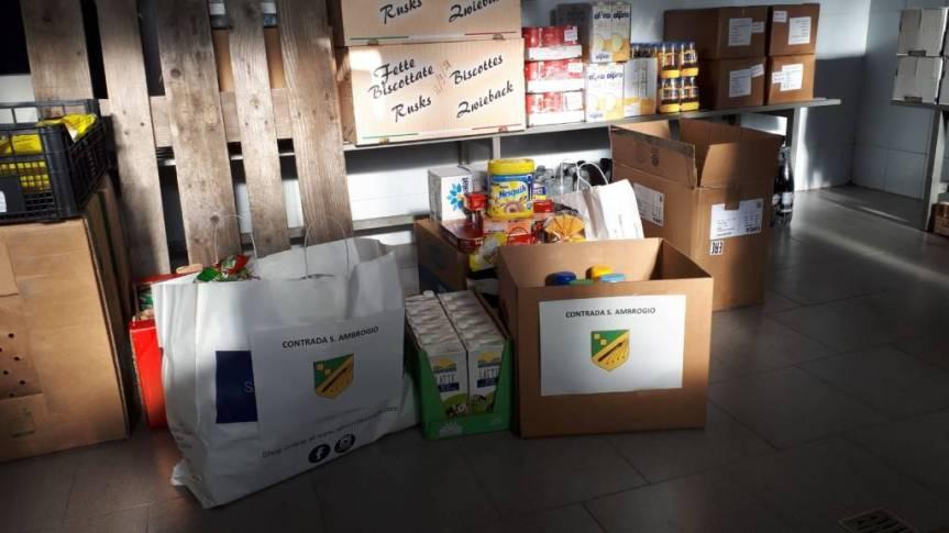 Palio di Legnano: In Caritas San Paolo,  il primo gesto di solidarietà della contradaSant'Ambrogio