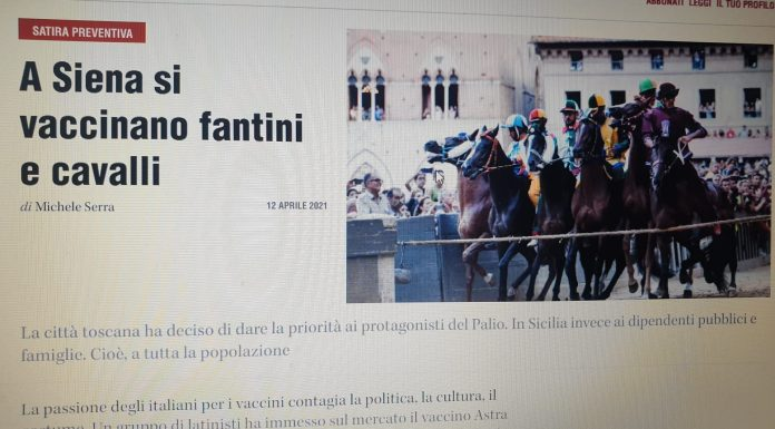 Palio di Siena: Lo scivolone di Serra su vaccini, cavalli ePalio