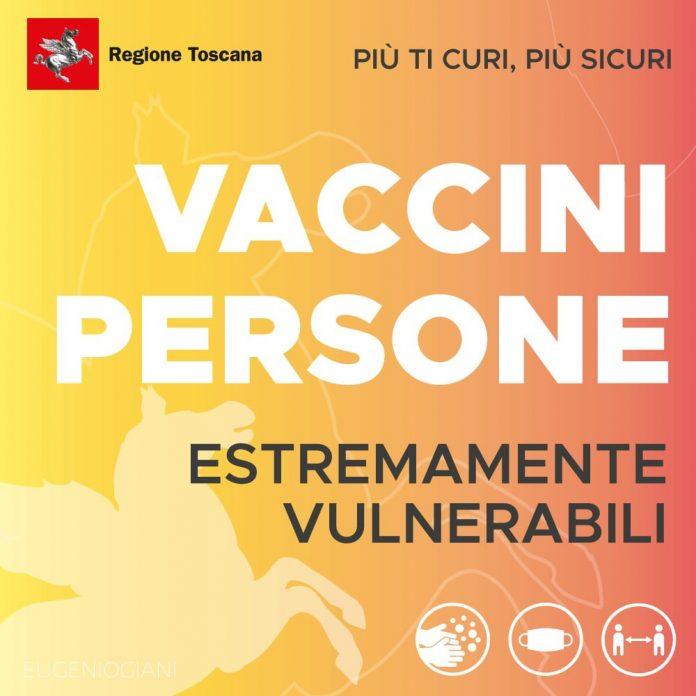 Toscana: Nuove dosi in arrivo, Asl Tse intensifica le vaccinazioni Covid agli estremamentevulnerabili