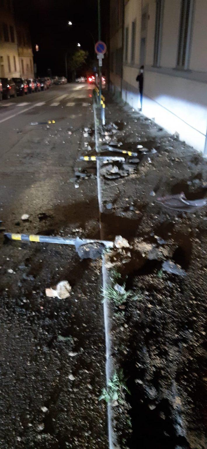 Siena: Trovata l'auto che ha sfiorato la tragedia in via Biagio diMontluc