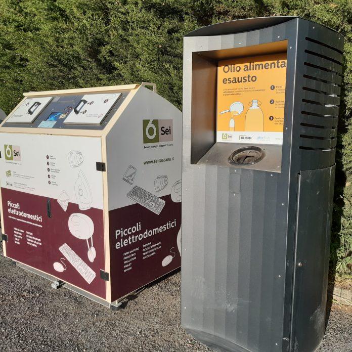 Provincia di Siena, Radicofani, potenziata la differenziata: Ecco i nuovi contenitori per l'olio alimentare esausto e iRaee