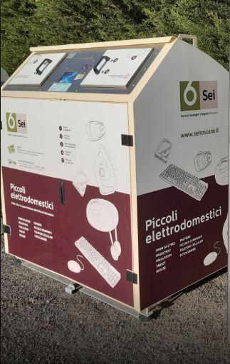 Provincia di Siena: Ad Abbadia San Salvatore due box per la raccolta dei piccoli elettrodomestici