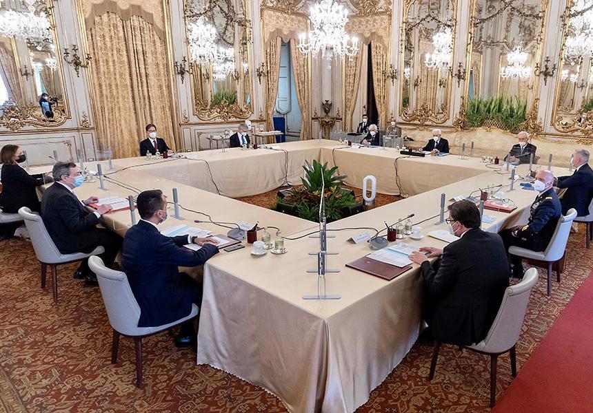 Italia: Riunione del Consiglio Supremo diDifesa