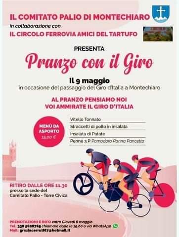 """Palio di Asti, Comitato Palio Montechiaro: 09/05 Inaugurazione Sede e """"A Pranzo con ilGiro"""""""