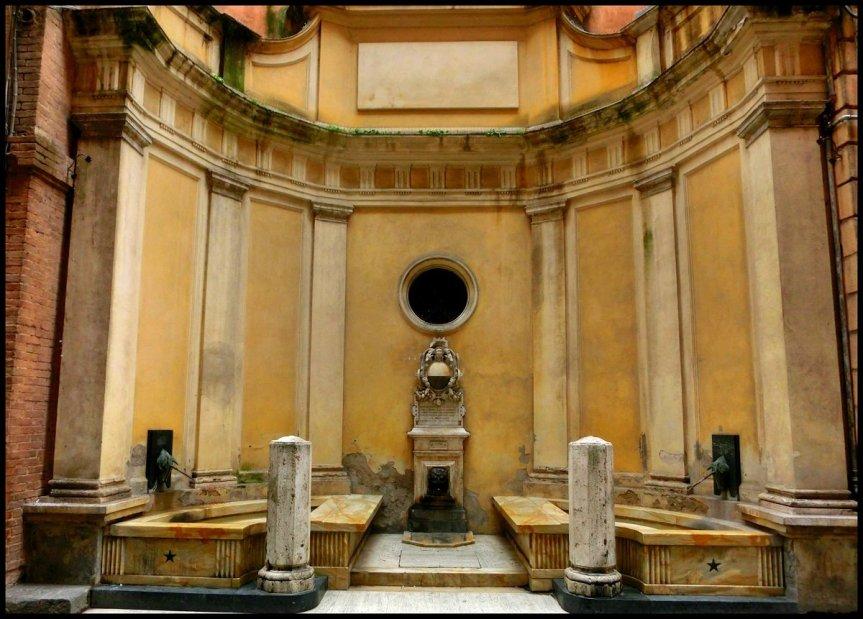 Siena, Contrada del leocorno: Restauro della fonte di Pantaneto, convenzione Comune di Siena-Contrada delLeocorno