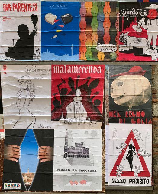 """Siena,  I Goliardi """"tappezzano"""" la città con le copertine dei numeri unici: """"Non muoreun'idea"""""""