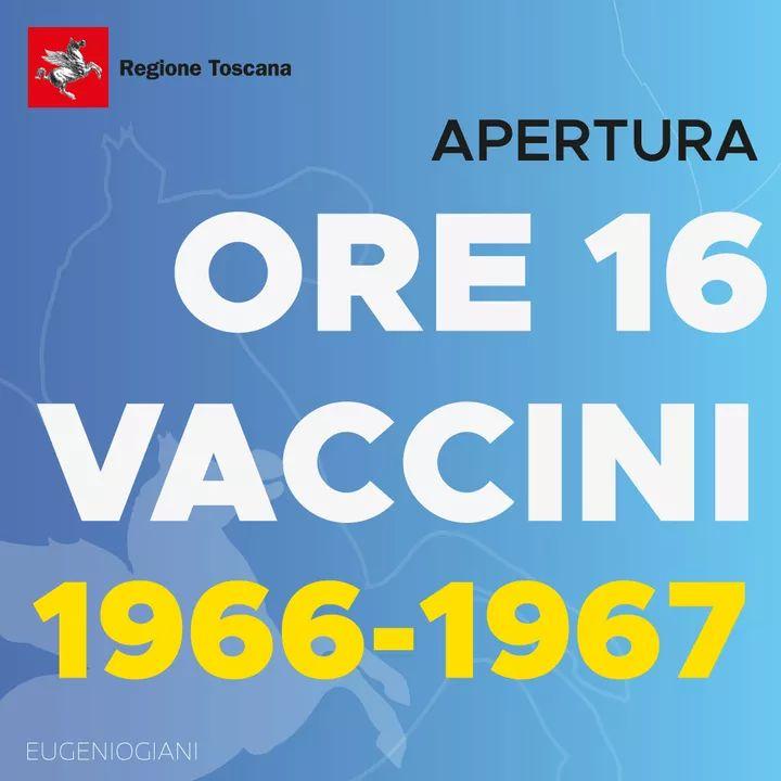 Toscana, vaccini, via alle prenotazioni per i nati negli anni 1966 e '67: Oltre35mila