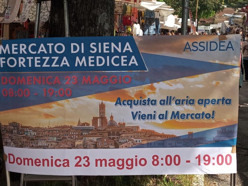Siena: Domenica 23 maggio mercato straordinario, le bancarelle rimarranno dalle 8 alle19
