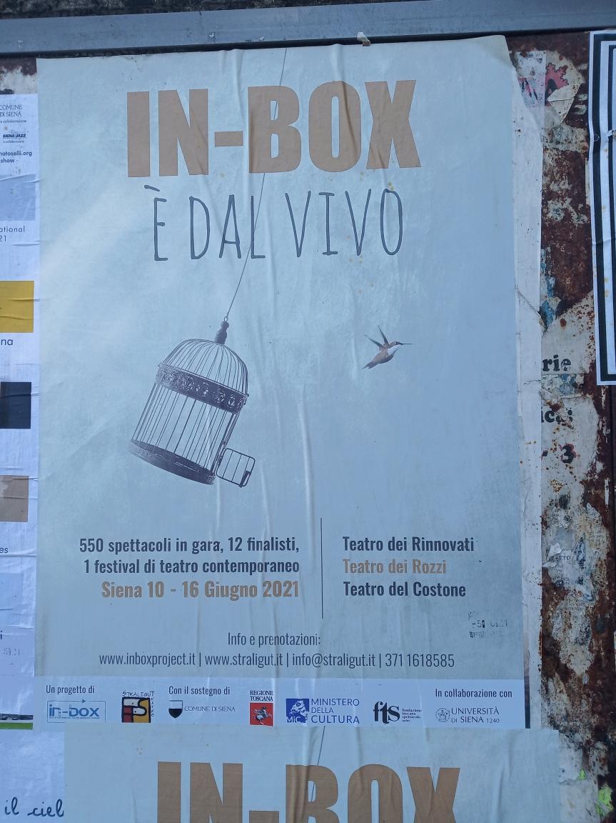 """Siena: Al Via la settima edizione """"In-Box dal Vivo"""", il festival senese vetrina del teatrocontemporaneo"""