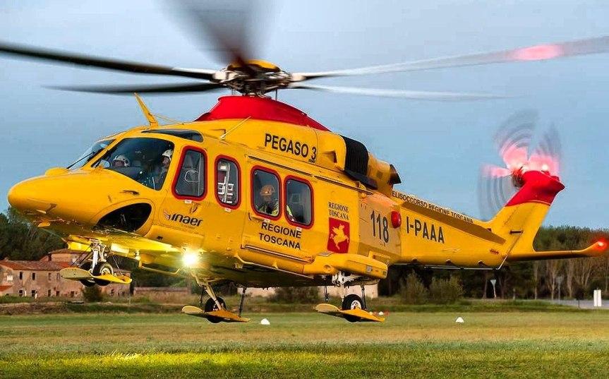 Provincia di Siena, 51enne cade in bicicletta: Trasportato dall'elisoccorso in condizioni critiche alleScotte