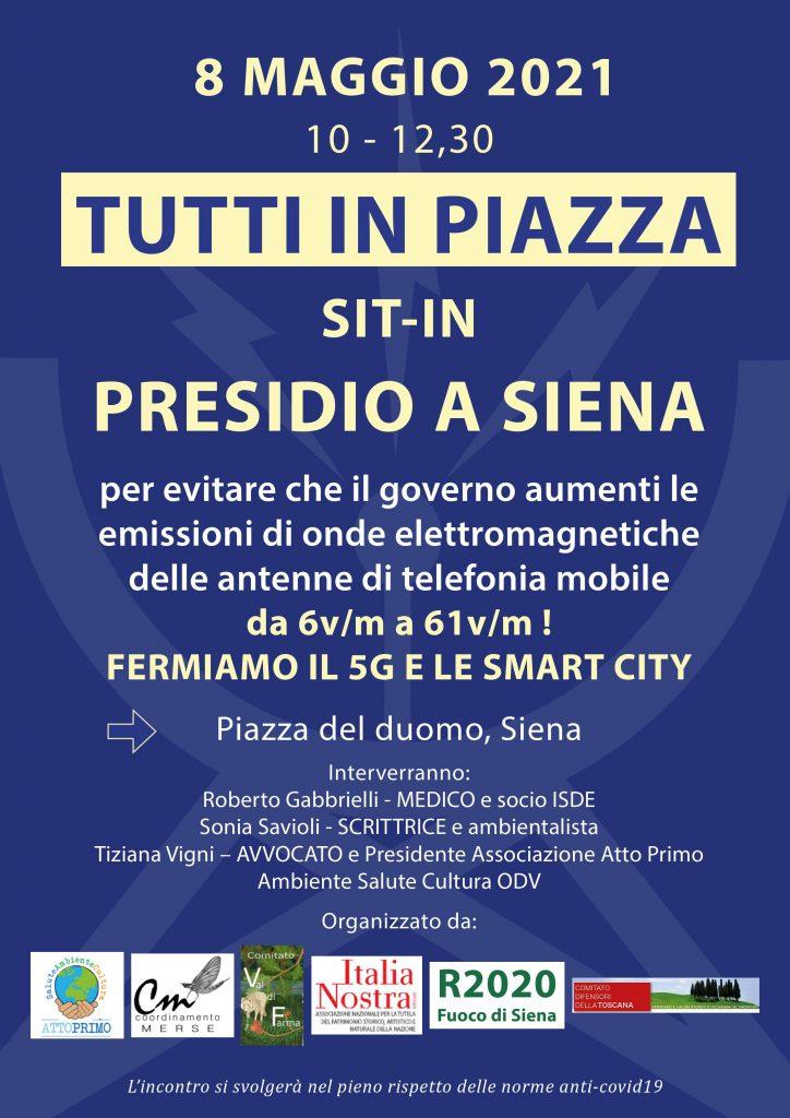 Siena: Emissioni elettromagnetiche, associazioni in piazza Duomo contro l'aumento dei limitiitaliani