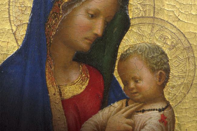 Siena: La Madonna del solletico di Masaccio in esposizione alla cripta delDuomo