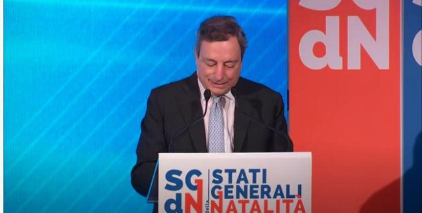Italia: Il Presidente Draghi agli Stati Generali dellaNatalità