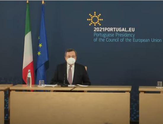 Italia: Conferenza stampa al termine della Riunione informale del Consiglio europeo e del VerticeUe-India