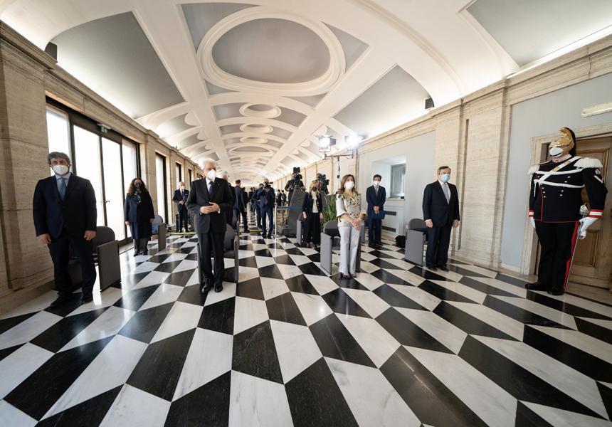 Italia: Draghi alla Riunione straordinaria della CorteCostituzionale