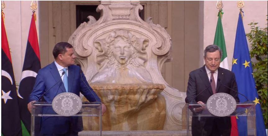 Italia: Il Presidente Draghi incontra il Primo Ministro libicoDabaiba