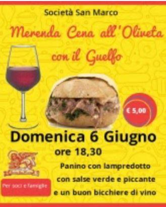 Siena, Contrada della Chiocciola: 06/06 Merenda Cena all'Oliveta con ilGuelfo
