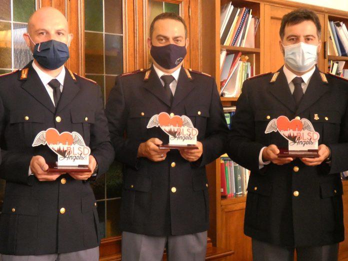 Siena: Consegna dei premi Blsd Angel inQuestura