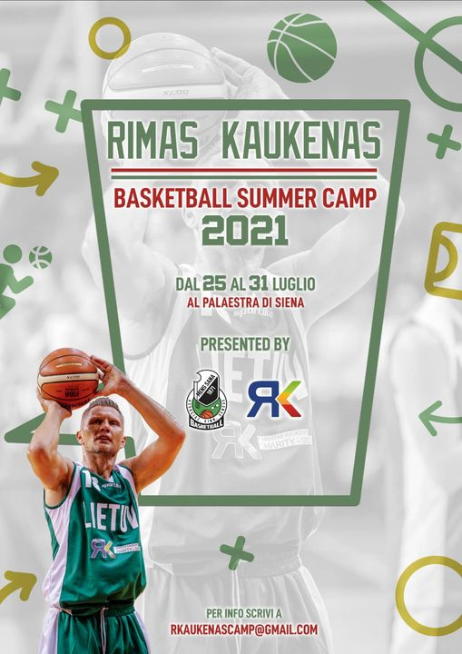 """Siena, Il 25 luglio inizierà il """"Kaukenas Camp"""". Rimas: """"Ritorno a Siena? Grandeemozione"""""""