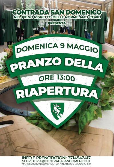 Palio di legnano, Contrada San Domenico: 09/05 ore 13.00 pranzo dellaRiapertura
