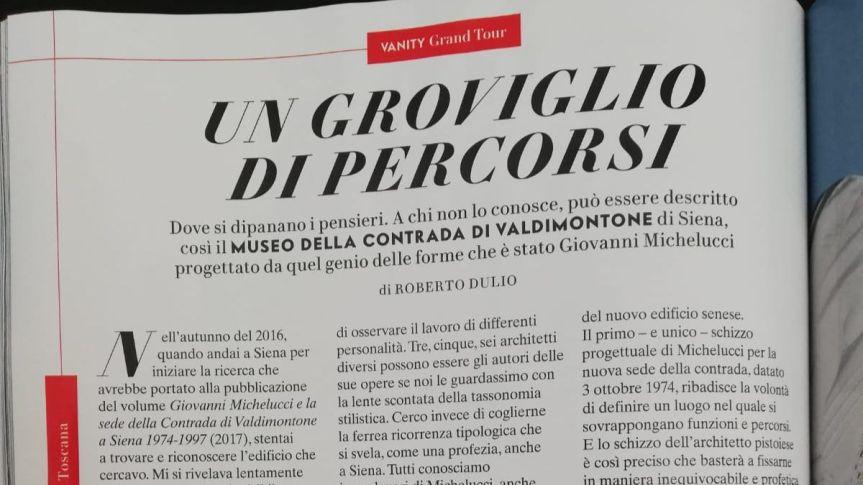 Siena: L'architetto Michelucci e il museo del Valdimontone protagonisti su VanityFair