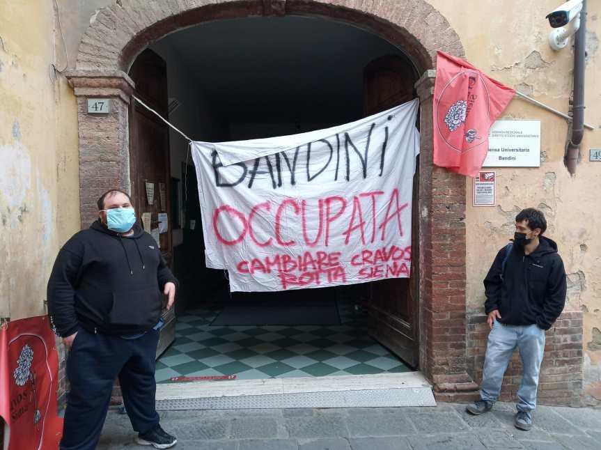 """Siena: """"Occupata"""" la mensa universitaria in viaBandini"""