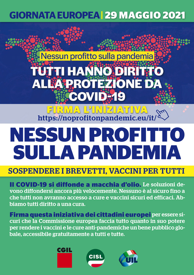 Siena: Petizione per la sospensione dei brevetti suivaccini