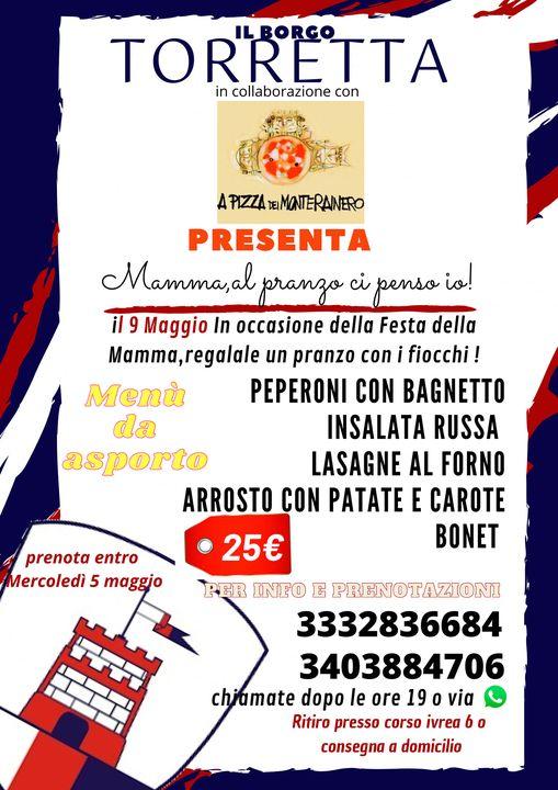 """Palio di Asti, Comitato Palio Borgo Torretta: 09/05 """"Mamma al pranzo ci pensoio!"""""""