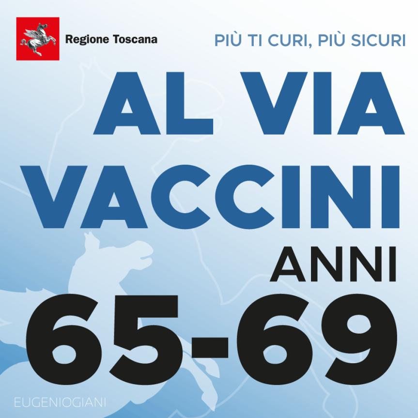 Toscana: Vaccini anti Covid, prima disponibilità persessantenni