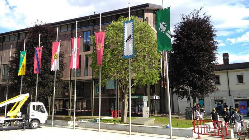 Palio di Legnano: Tolti gli stendardi del Palio dal centro e dalMonumento