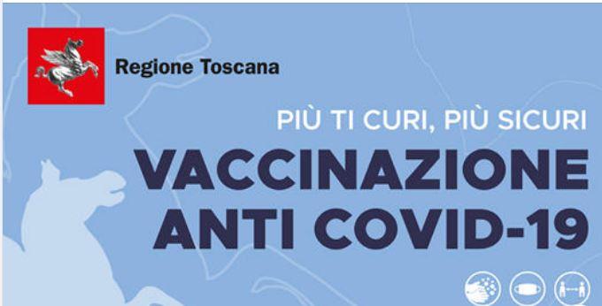 Toscana: Oggi 09/06 Aggiunte nuove disponibilità per vaccin anti Covi dalla fascia da over 30 insu