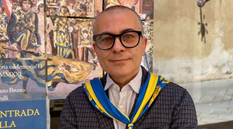 """Palio di Siena, Antonio Carapelli (Tartuca): """"Continuate a voler bene alle contrade, sono determinanti per lacittà"""""""