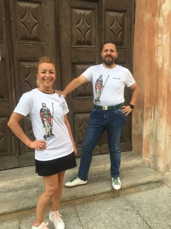 Palio di Asti, Asti, la statua di San Rocco ritorna a casa: Realizzate magliette personalizzate perl'occasione