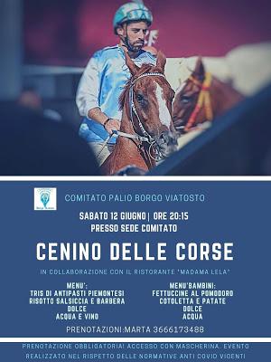 Palio di Asti, Comitato Palio Borgo Viatosto: Domani 12/06 Cenino delle Corse con AlessioMigheli