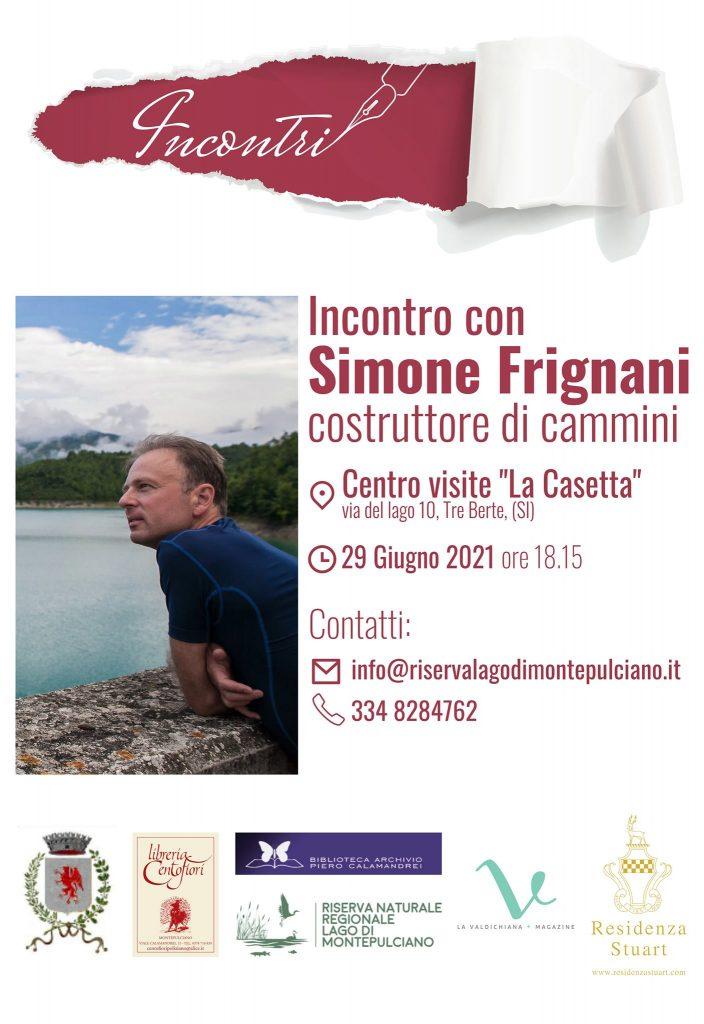 """Siena: """"Incontri"""", appuntamento con Simone Frignani al Lago diMontepulciano"""