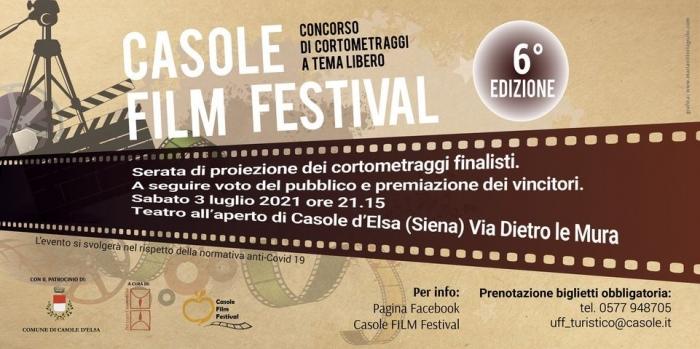 Provincia di Siena: 03/07 6^ Edizione Casole FilmFestival