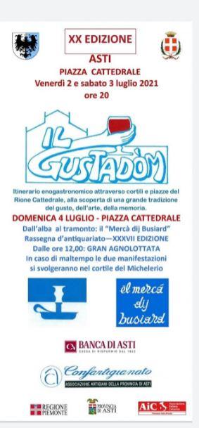 """Palio di Asti, Rione Cattedrale: 04/07 """"Gustadom"""""""