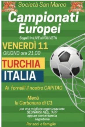 Siena, Contrada della Chiocciola: 11/06 Campionati di Calcio all'Oliveta partitaTurchia-italia