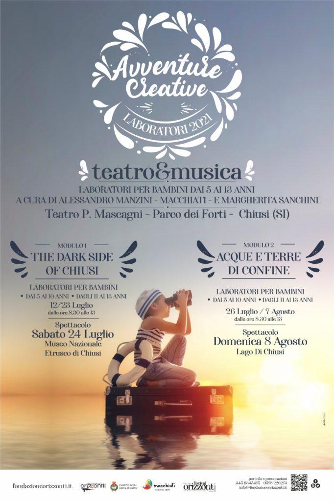 """Provincia di Siena, Chiusi: al via """"Avventure creative"""", i centri estivi nati dalla collaborazione con la Fondazione Orizzontid'Arte"""
