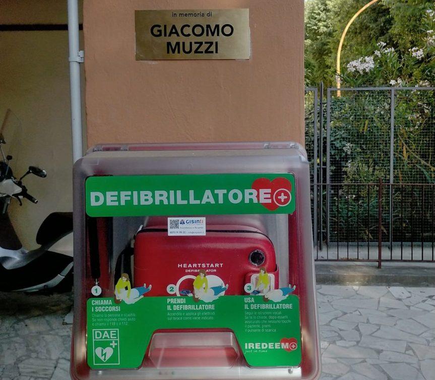 Siena: Attiva nuova postazione DAE a San Prospero, in memoria di GiacomoMuzzi