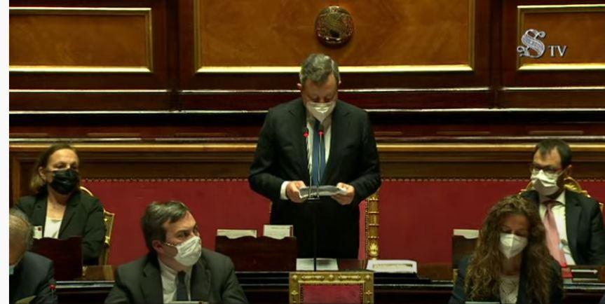 Italia: Consiglio europeo, le comunicazioni del Presidente Draghi inParlamento