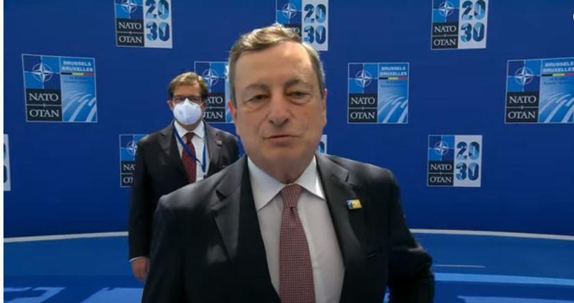 Italia: Il Presidente Draghi al Vertice Nato diBruxelles