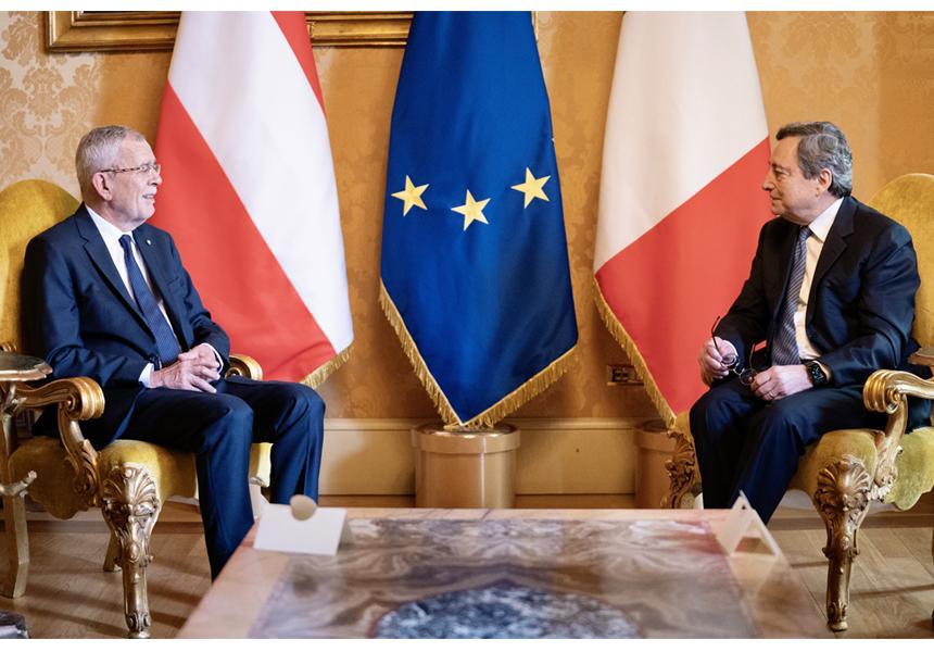 Italia: Draghi incontra il Presidente Federale della Repubblicad'Austria