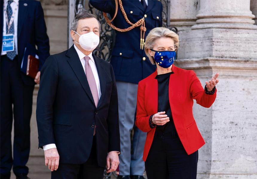 Italia: Visita a Roma della Presidente della Commissione Ue von derLeyen