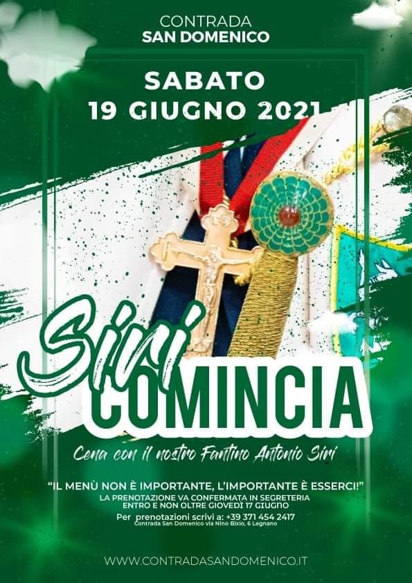 """Palio di Legnano, Contrada San Domenico: 19/06 """"Siricomincia"""""""