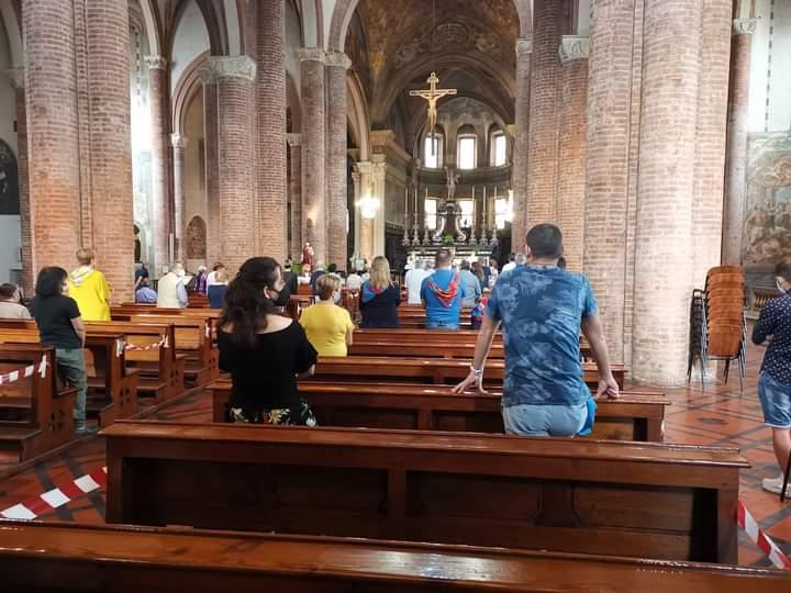 """Palio di Asti: Oggi 20/06 in corso di svolgimento la Messa in memoria di Andrea Mari detto """"Brio"""""""
