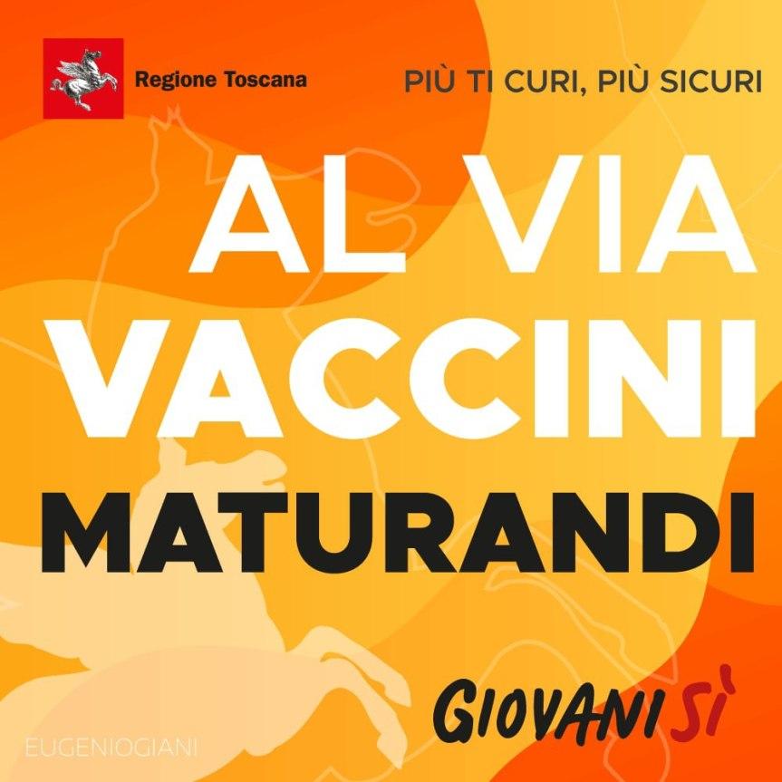 Toscana: Da sabato 05/06 al via i vaccini per imaturandi