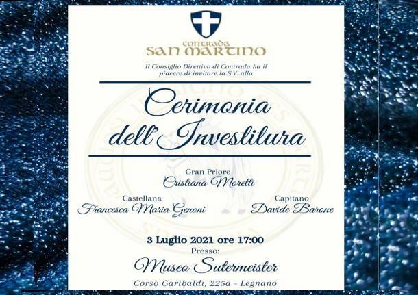 Palio di Legnano, Contrada San Martino: 03/07 CerimoniaInvestitura