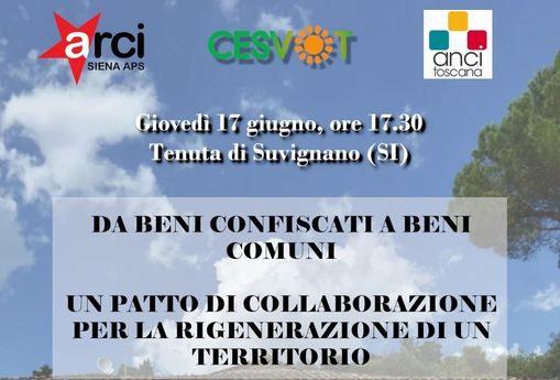 Provincia di Siena: Beni comuni, beni confiscati e rigenerazione del territorio. Se ne parla a Suvignano domani17/06